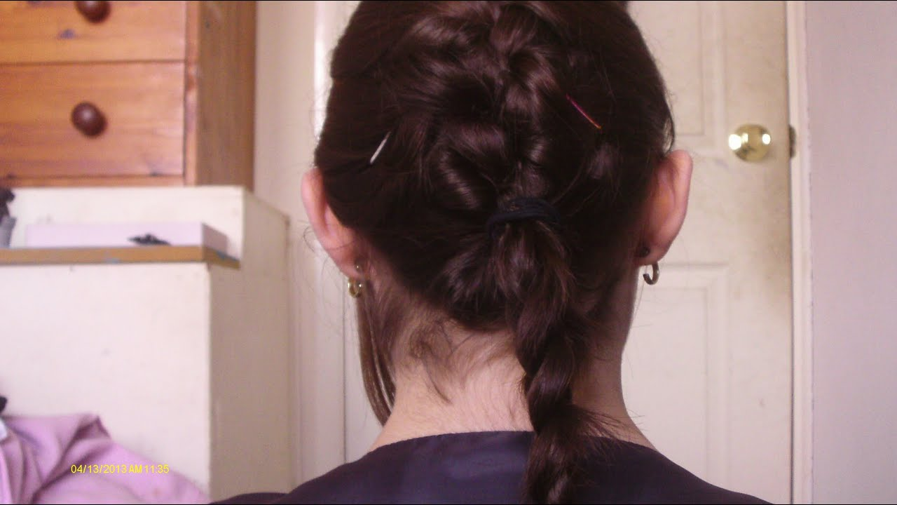 french braidnormal braid hair tutorial youtube