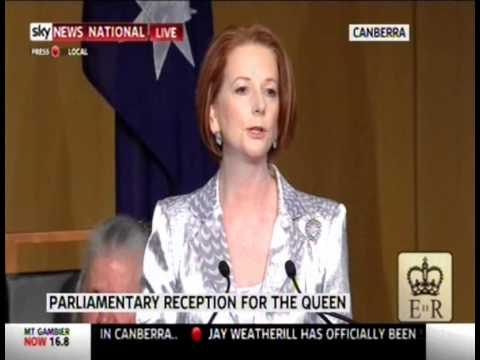 Royal Visit 2011 Reception Pt II - Prime Minister Julia Gillard speaks