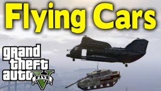 GTA 5 FLYING CARS 2 Awesome Ways To Transport Vehicles