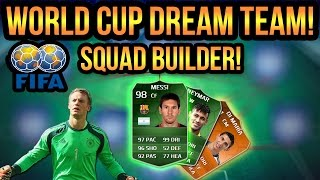 FIFA WORLD CUP DREAM TEAM SQUAD BUILDER! FIFA 14 ULTIMATE TEAM