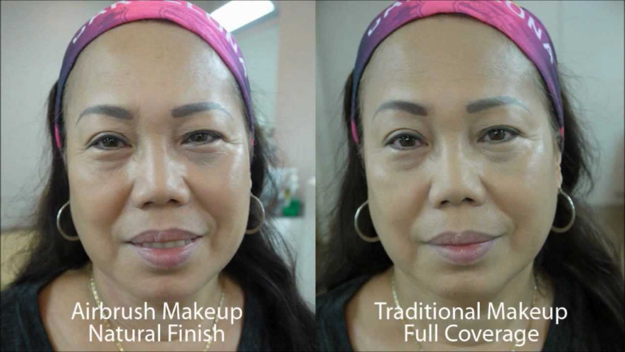 Airbrush Vs Traditional Wedding Makeup : Airbrush vs Traditional Makeup - YouTube