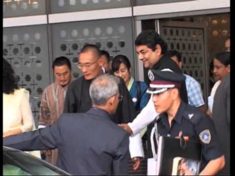 30 Aug 2013 - Bhutan PM arrives in New Delhi on a six-day visit