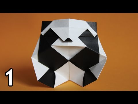 Origami Panda By Roman Diaz Folding Instructions Part One Difficulty