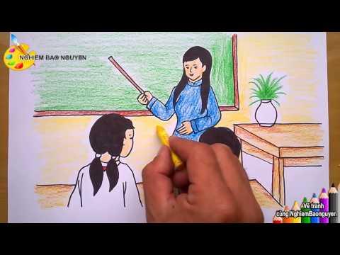 Vẽ tranh đề tài học tập/How to Draw Learning topics