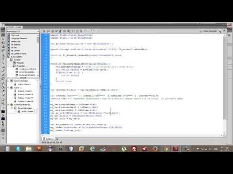 Φόρμα επικοινωνίας php για το website μας στο adobe flash professional