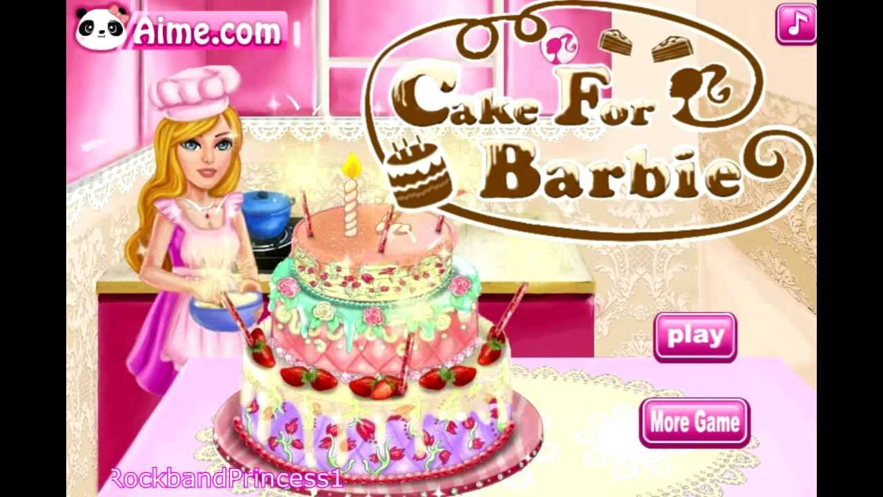 Cake for barbie game barbie cake decorating games for All decoration games for girls