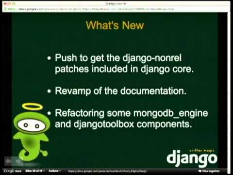 Image from Django-nonrel - intro and state