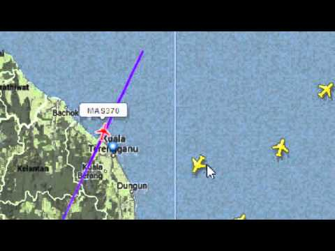 MH370 / MAS 370 MALAYSIA AIRLINE MISSING RADAR