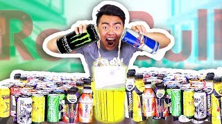 MIXING ALL 100 ENERGY DRINKS TOGETHER AND DRINKING IT!