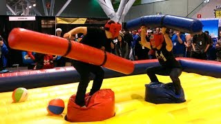 CaptainSparklez vs. Markiplier - PAX Foam Wiener Battle, Also Backflips