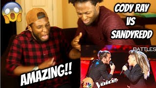 "Cody Ray Raymond Battles SandyRedd to Solomon Burke's ""Cry to Me"" - The Voice 2018 Battles"