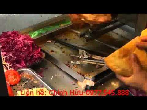 Làm bánh mỳ Thổ Nhĩ Kỳ Döner Kebab is made in Vietnam, Hanoi.093.22.00.111