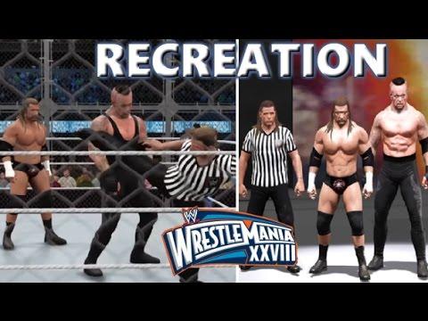 WWE 2K17 RECREATION: UNDERTAKER VS TRIPLE H | WRESTLEMANIA 28 HIGHLIGHTS