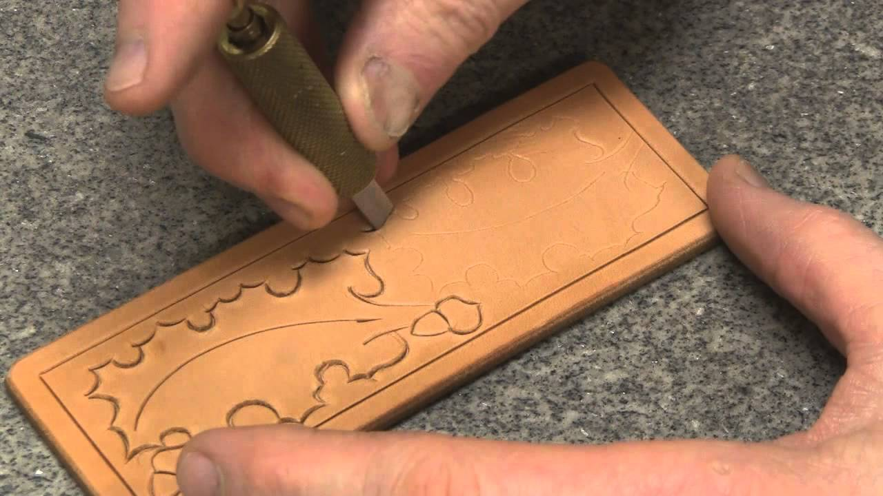 Carving leather part with crafter and saddle
