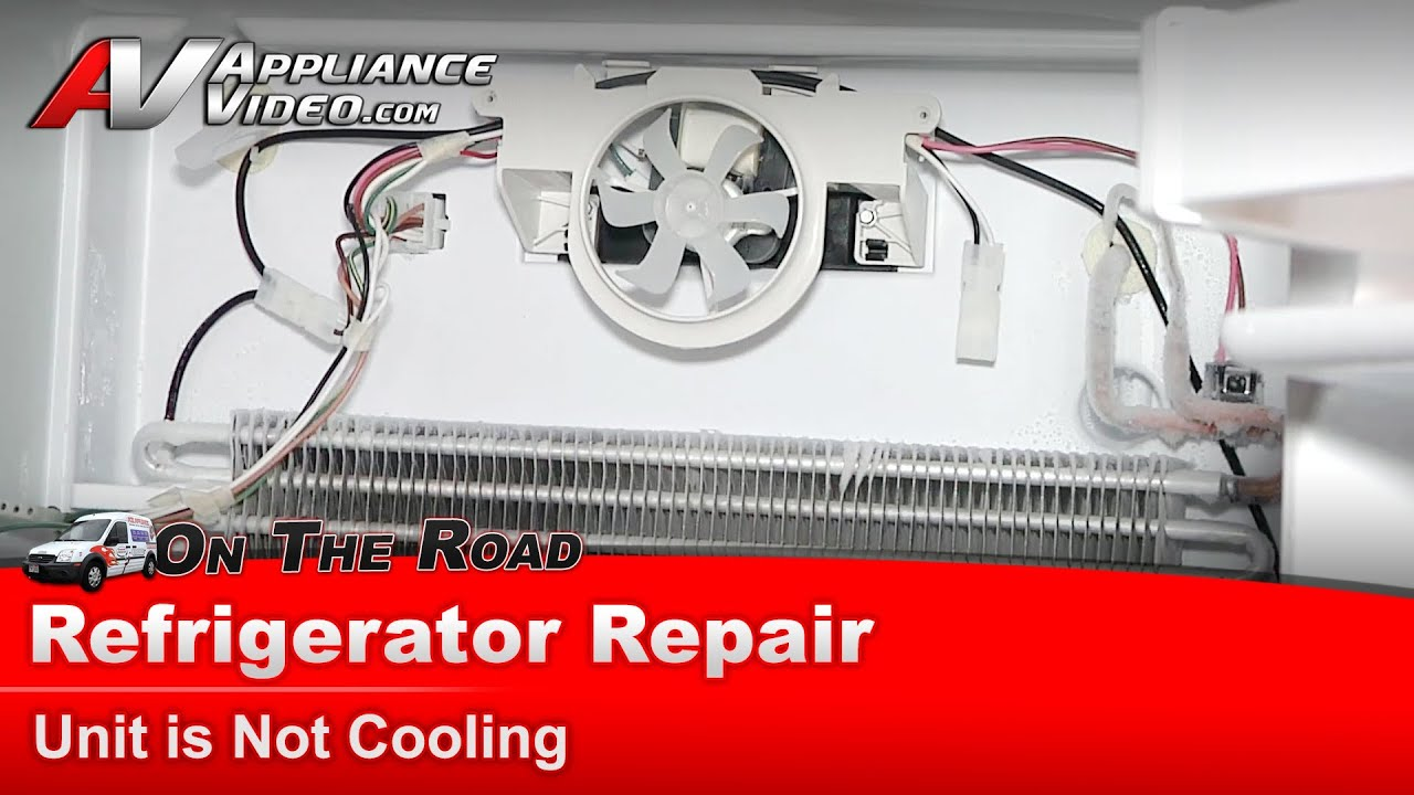 Refrigerator repair diagnostic not cooling amana for Evaporator fan motor troubleshooting