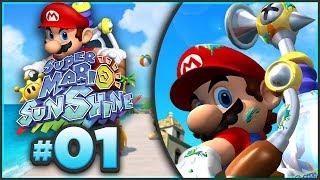 Super Mario Sunshine 100% Walkthrough | ALL Bianco Hills Shine Sprites! [Episode 1 🔴LIVE]