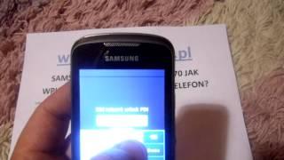 Simlock Samsung Galaxy Mini GT S5570 Jak Wpisać Kod