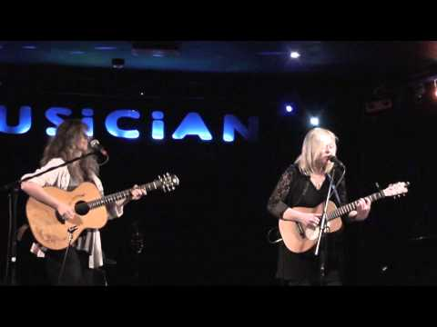 Sally Barker performing 'Elephants' with Vicki Genfan