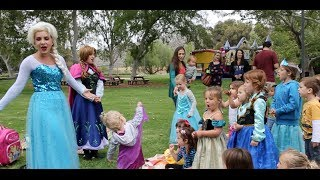 "Frozen Birthday Party ""Let It Go"" Anna & Elsa Singing"