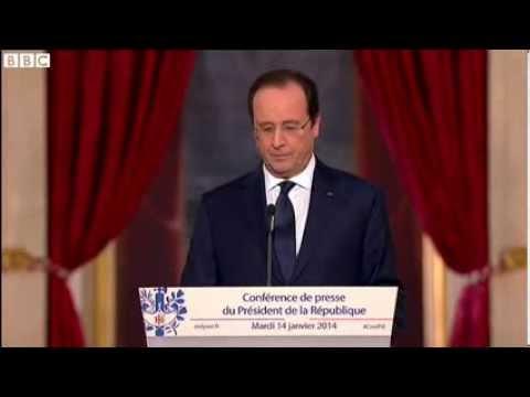 Hollande ducks First Lady Valerie Trierweiler question