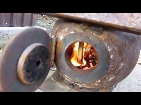Печь ракета из газовых баллонов своими руками