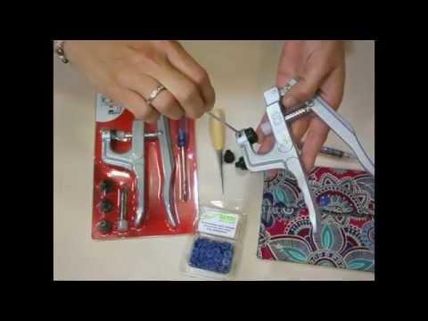 Máquina para broches de presión snaps - IDEAS COSTURA
