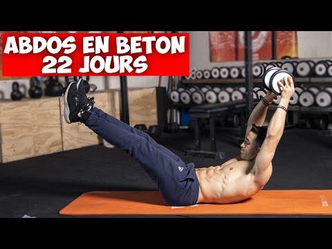 ABDOS EN BÉTON : 5 exercices haltère en 22 jours