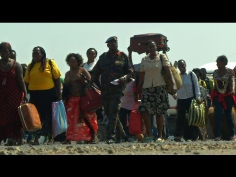 SOUTH SUDAN - UN FORCES STRUGGLE TO KEEP CIVILIANS SAFE - BBC NEWS