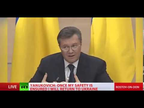 Viktor Yanukovych, Russia is doing press release LIVE