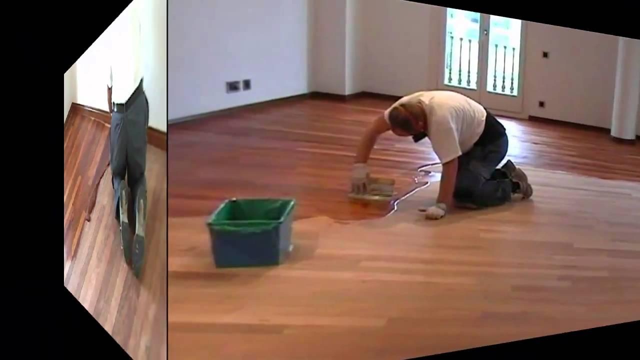 Lijar barnizar parquet de con bona system - Como pulir parquet ...