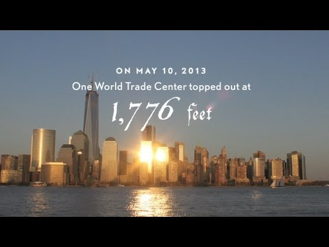 One World Trade Center Spire Time-Lapse - Spire Rising - 2013