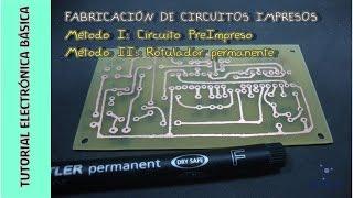 Cómo hacer Circuitos Impresos - Electrónica
