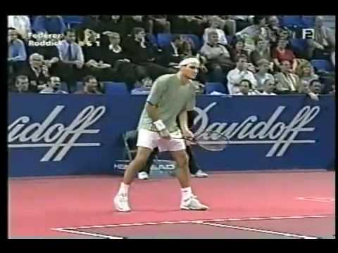 Federer - Roddick: Best shot & Best game ever - Basel 2002