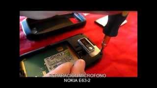 Reparación Micrófono Nokia E63 2