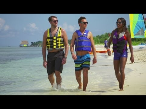 Tom Daley and Gabby Douglas take on Royal Caribbean Cup Challenge