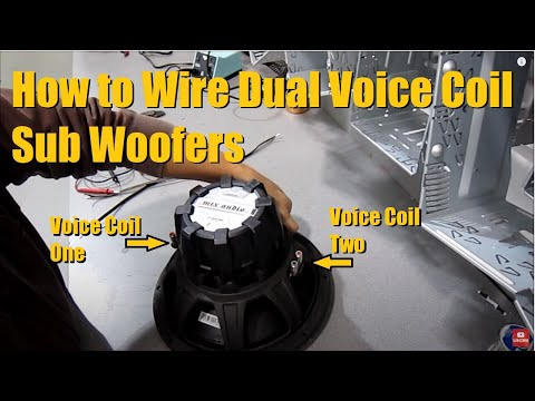 How to wire up a Dual Voice Coil (DVC) Sub Woofer