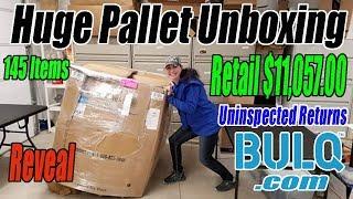 Huge Pallet Unboxing Retail $11,057.00 - 145 Items From Bulq.com Uninspected Returns