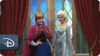'Frozen' Meet & Greet With Anna & Elsa At Epcot Walt