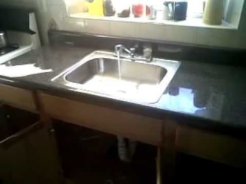 Replace Kitchen Counter Cabinet Sink Faucet Youtube