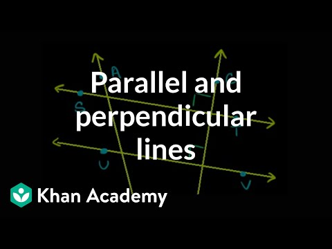 Identifying Parallel and Perpendicular Lines