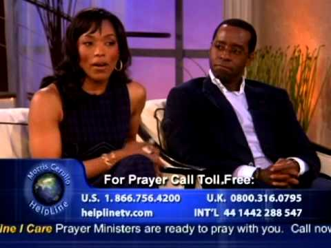 Actor Courtney Vance and Wife, Actress Angela Bassett, Appear on Helpline TV!