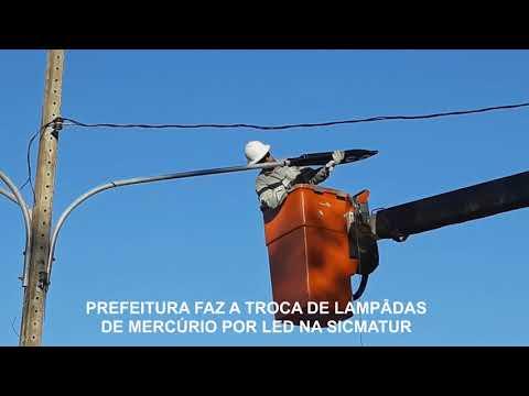 Prefeitura troca lâmpadas de mercúrio por led no Terminal Turístico Sangradouro