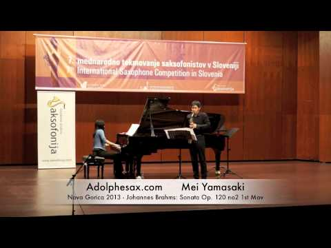 Mei Yamakasi – Nova Gorica 2013 – Johannes Brahms: Sonata Op 120 no2 1st Mov