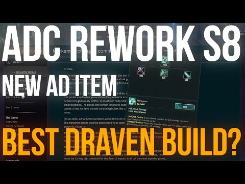 New ADC Items | ADC Rework Season 8 | Best Draven build? (League of Legends)
