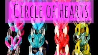 How To Make The Rainbow Loom Circle Of Hearts Bracelet