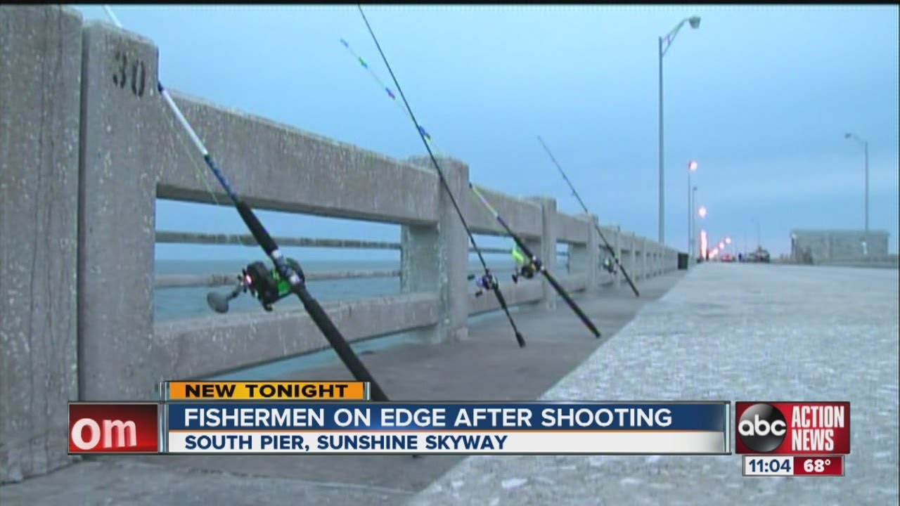 Shots fired at sunshine skyway fishing pier youtube for Sunshine skyway fishing pier