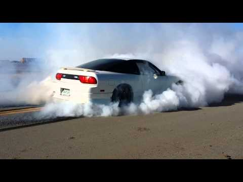 Nissan 240sx 1st to 2nd dirty burnout with sr20det