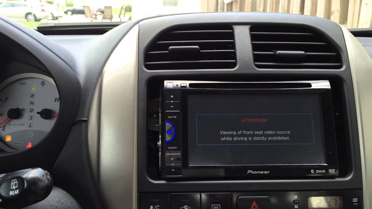 pioneer avh 200bt dvd receiver installation toyota rav4 projectravfel