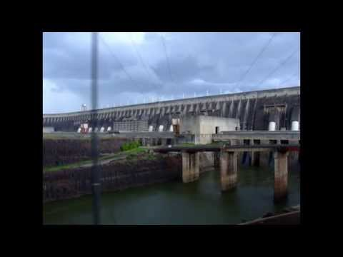 Itaipu on the Paraná River located on the border between Brazil