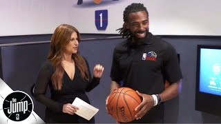 Mike Conley Jr. scores an 88 out of 100 in The NBA Experience's dribbling drill | The Jump